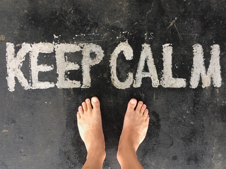 Keep calm and carry on - one step at a time.
